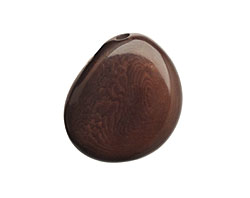 Tagua Nut Espresso Flat Pebble 35-45x28-37mm