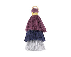 Twilight Mix Small 3-Tiered Tassel 35mm