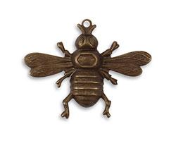 Vintaj Natural Brass Bumble Bee Pendant 33x26.5mm