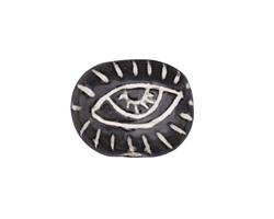 Gaea Ceramic Watchful Eye Bead 26x19mm