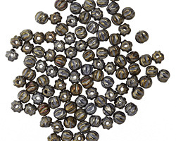 Czech Glass Iris Brown Melon Round 3mm