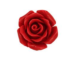 Coral (imitation) Carved Rose 25mm