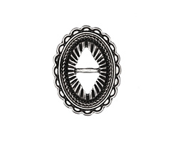 Zola Elements Antique Silver (plated) Southwest Concho 19x25mm