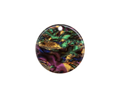 Zola Elements Abalone Acetate Coin Focal 20mm