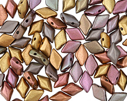 Matte Metallic Bronze Iris GemDuo 8x5mm Seed Bead