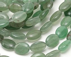 Green Aventurine Flat Oval 14x10mm