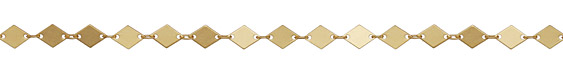 Satin Hamilton Gold (plated) Diamond Chain