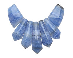 Denim Blue Agate Pendant Set 20-45mm