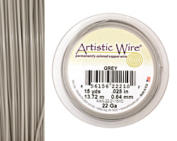 Artistic Wire Grey 22 gauge, 15 yards