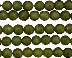 Canadian Jade Faceted Round 8mm