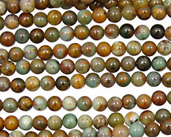 African Green Opal Round 4mm