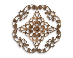 Vintaj Natural Brass Full Diamond Circle Filigree 61mm