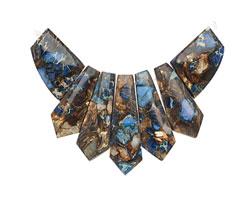 Midnight Blue Impression Jasper & Bronzite Pendant Set 20-45mm