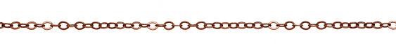 Antique Copper (plated) Flat Cable Chain