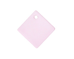 Blossom Pink Recycled Glass Curved Diamond Square Pendant 22mm