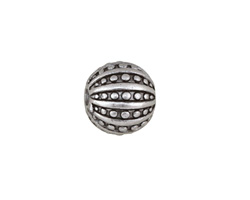 Antique Silver (plated) Sea Urchin Round 13mm