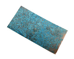 "Lillypilly Azul Patina Copper Sheet 3""x6"", 36 gauge"