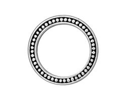 """TierraCast Antique Silver (plated) 1"""" Beaded Ring 25mm"""