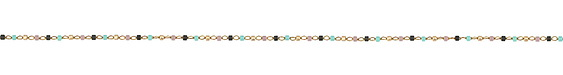 Moondance Delicate Brass Seed Bead Chain