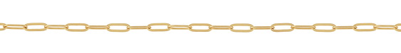 Satin Hamilton Gold (plated) Flat Paperclip Chain