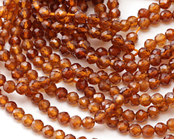Hessonite Faceted Round 3mm