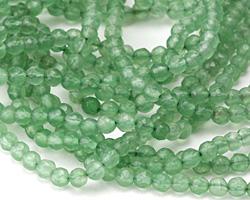 Green Aventurine Faceted Round 4mm
