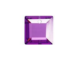 Violet Faceted Square 18mm