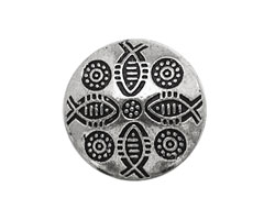 Pewter Fish Puff Coin 23mm