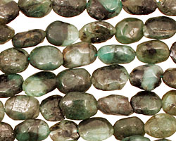 Emerald Rough Tumbled Nugget 7-10x6-7mm