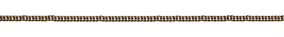 Antique Brass (plated) Woven Curb Chain