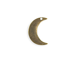 Vintaj Antique Brass (plated) Crescent Moon Blank 18x23mm