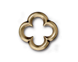 TierraCast Antique Brass (plated) Large Quatrefoil Link 21mm