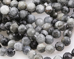 Eagle Eye Quartz Faceted Round 8mm