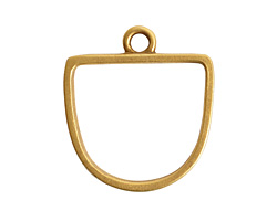 Nunn Design Antique Gold (plated) Open Half Oval Frame Pendant 28.5x31mm