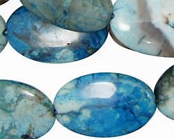 Brazil Blue Agate Flat Oval 27x18mm