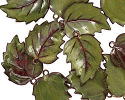 C-Koop Enameled Metal Olive Leaf 15x20mm