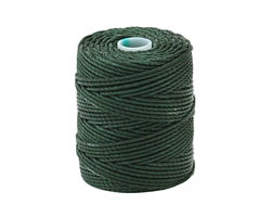 C-Lon Forest Green Tex 400 (1mm) Bead Cord