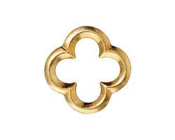 TierraCast Gold (plated) Large Quatrefoil Link 21mm