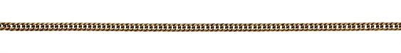 Antique Gold (plated) Woven Curb Chain