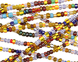 African Rainbow Seed Bead Mix 2-3x3-4mm