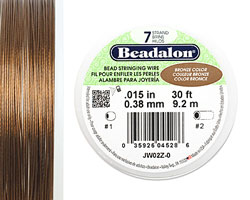 "Beadalon Bronze .015"" 7 Strand Wire 30ft."