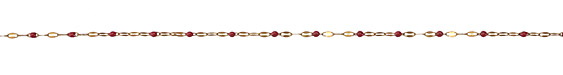 Zola Elements Strawberry Pressed Drawn Cable Brass Chain