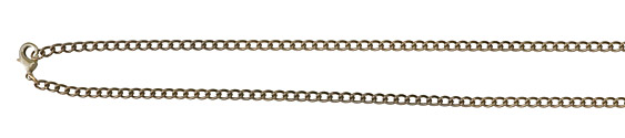 Vintaj Vogue Natural Brass Finished Curb Chain 18""