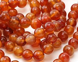 Carnelian (natural-orange) Round 10mm