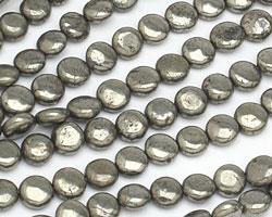 Golden Pyrite Puff Coin 8mm