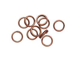Antique Copper (plated) Split Jump Ring 7mm, 21 gauge