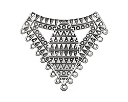 Zola Elements Antique Silver (plated) Triangular Geometric Focal 66x54mm