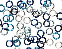 Ocean Mix Enameled Copper Round Jump Ring 5mm, 18 gauge