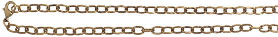 Vintaj Vogue Finished Etched Cable Chain 18""