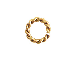 Nunn Design Antique Gold (plated) Mini Rope Jump Ring 7.5mm
